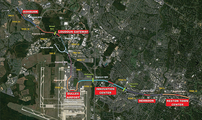 Phase 2 of the 11.4-mile extension of the Metropolitan Washington Area Transit Authority's Silver Line will add new stations from Reston through the Washington Dulles International Airport, to Ashburn in Loudoun County.