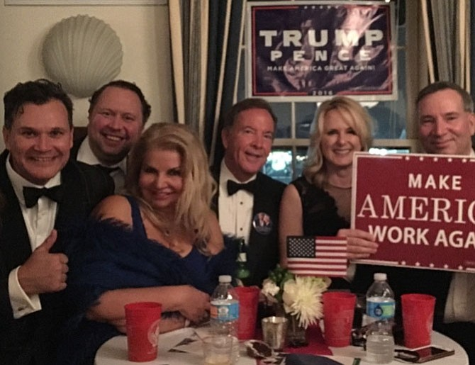 Attendees celebrate the inauguration of President Donald Trump at a gala sponsored by the Alexandria Republican City Committee Jan. 20 at the Old Dominion Boat Club.