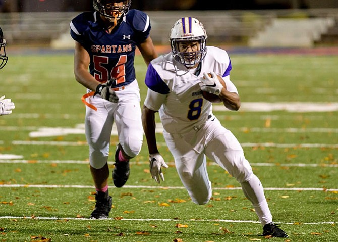 Lamont Atkins, Lake Braddock Secondary School's former star football player, was announced as the 2016-2017 Gatorade Virginia Player of the Year.