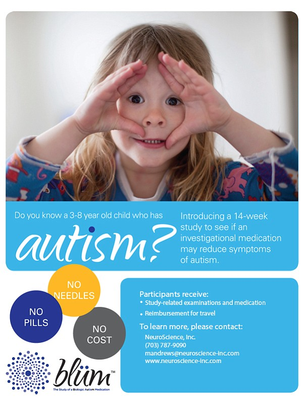 Sponsored: The Blüm Study - Autism Phase 3 Clinical Trial