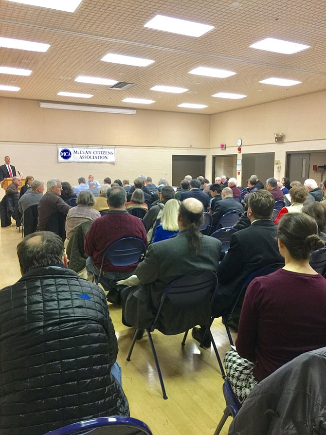 Tom Biesiadny, Fairfax County Director of Transportation, addressed a list of issues presented to him by the MCA's Transportation Committee, and he also took questions from the audience.