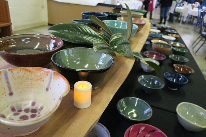 Bowls for Sunday's event were provided by artists from various local ceramic studios and art departments, including Lee Arts Center, Alexandria Clay Co-op, Thomas Jefferson Community Center Art Studio, Washington-Lee High School, Episcopal High School and Marymount University.