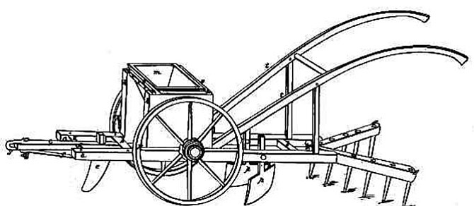 Corn planter invented by Henry Blair
