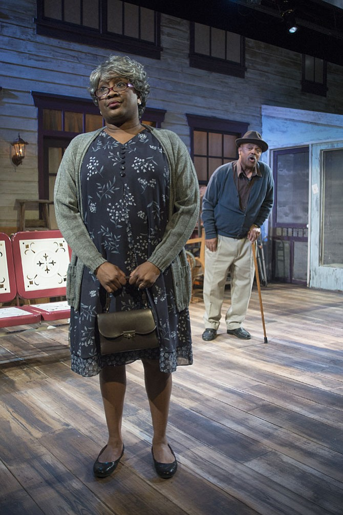 "Roz White and Doug Brown star in ""The Gin Game"" at MetroStage in Alexandria now through March 12."
