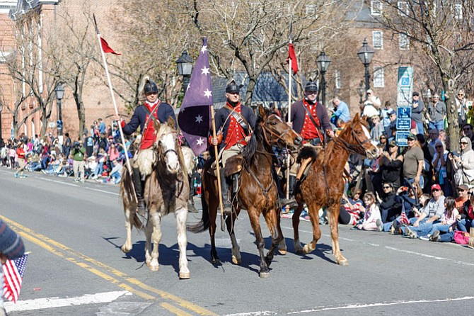 Riders from the United Horsemen's Association take to the streets of Old Town for the Feb. 20 George Washington Birthday Parade.