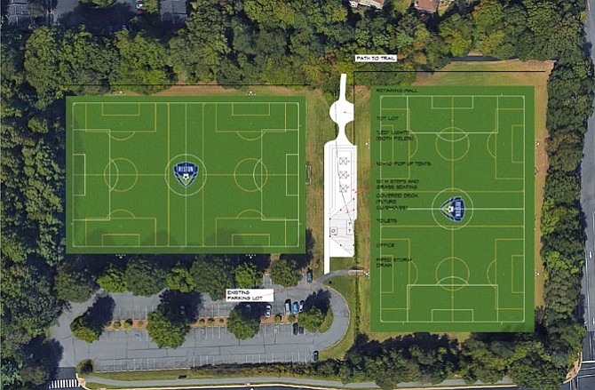 The proposal by the Reston Soccer Association preliminarily estimated the costs of the proposed improvements to cost more than $2 million. Because of this, the project would have likely been done in phases.