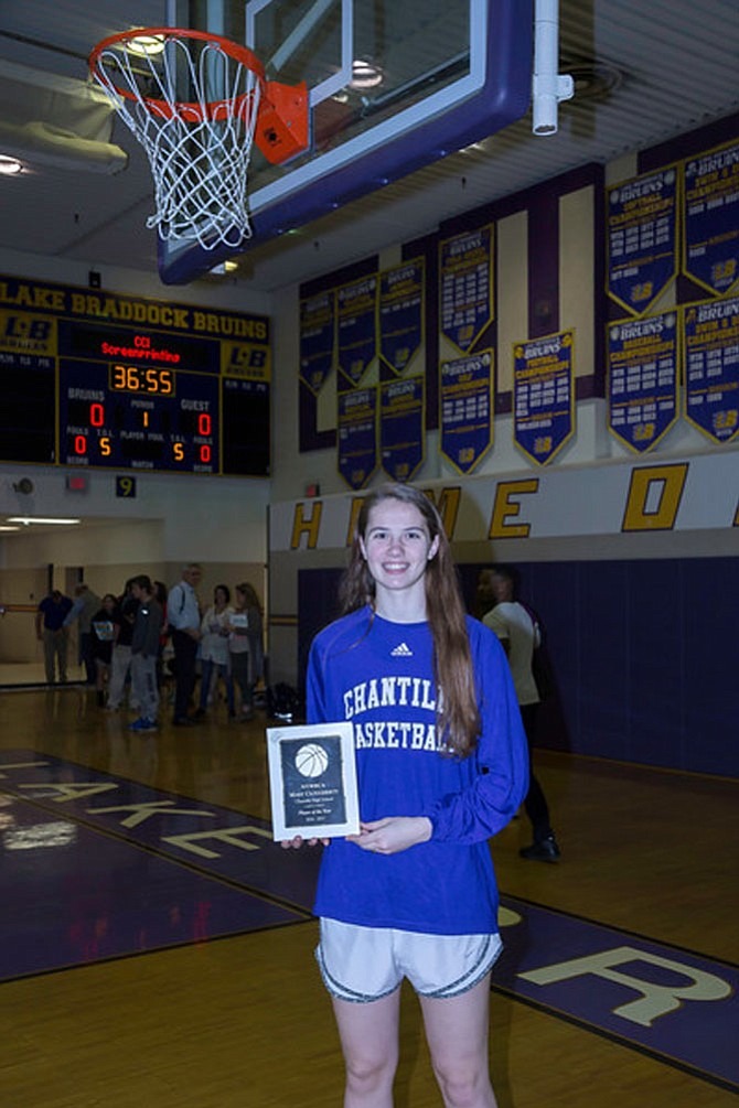 Mary Clougherty was named Player of the Year by the Northern Virginia Women's Basketball Coaches Association.