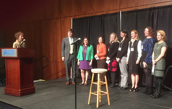 MPA's Executive Director Lori Carbonneau (far right) accepted the Dominion ArtStar Award on behalf of MPA.