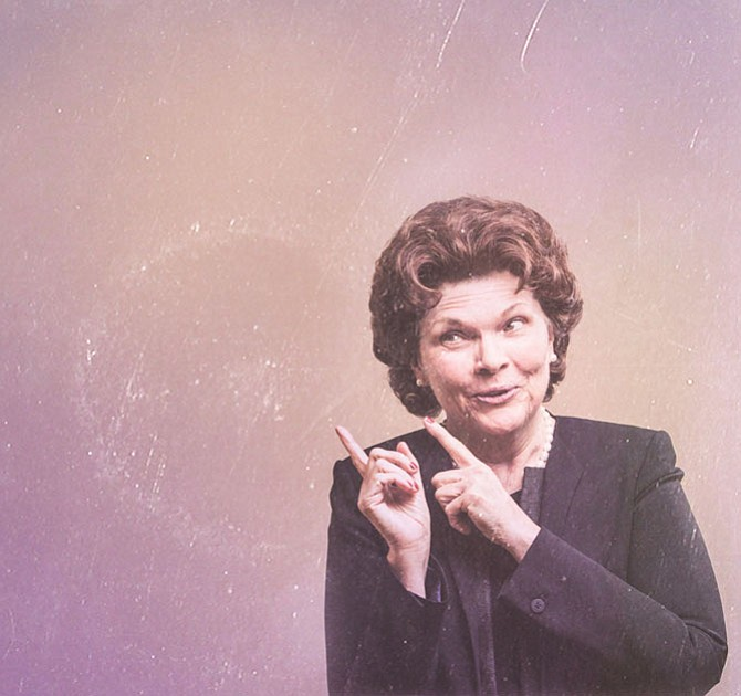 "Debra Monk stars in Signature Theatre's production of ""Mrs. Miller Does Her Thing,"" from now through March 26."