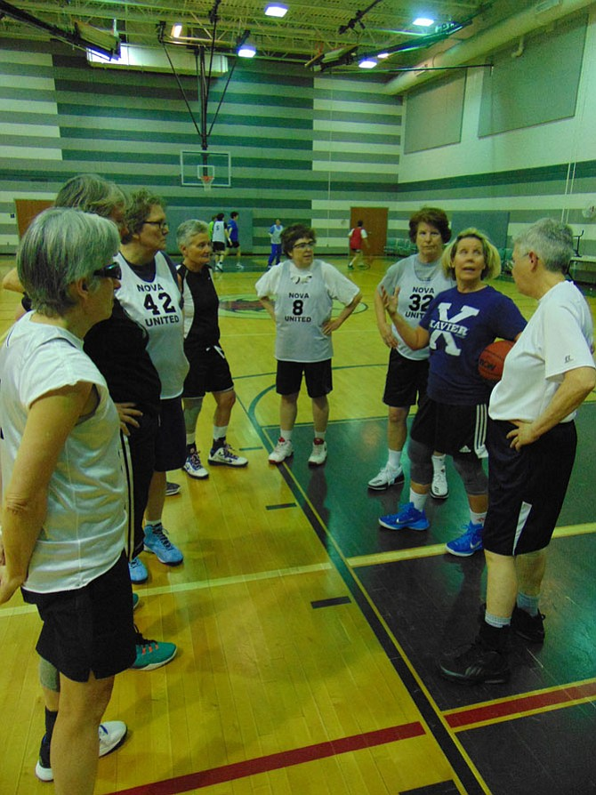 The NOVA Fifty and Over Basketball League is a group of women ages 50 to 80 who practice every Friday year-round at the James Lee Center in Falls Church.