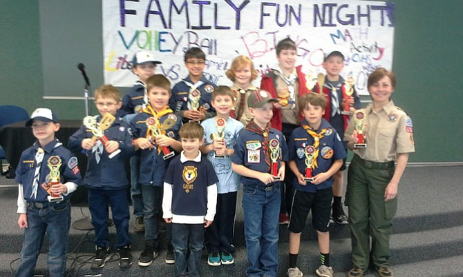 109 cub scouts compete in pinewood derby