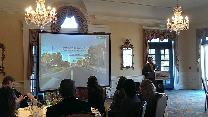 Members of the Mount Vernon-Lee Chamber of Commerce received an update on the widening of Route 1 from Jeff Todd Way to Napper Road from Virginia Department of Transportation representatives at their regular Business Breakfast on March 9.