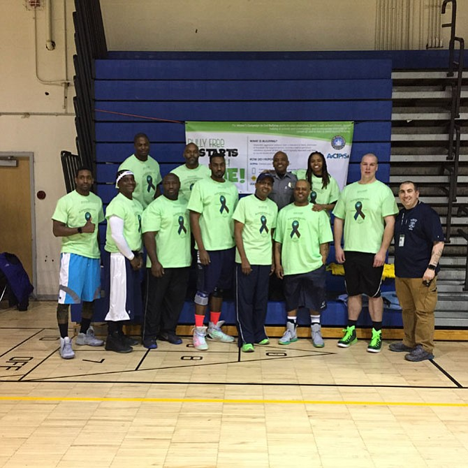 The Alexandria Police Department team. Score: Alexandria Police 55 vs. Prince George's County Police 50.