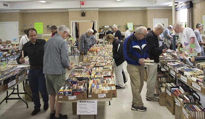 Walker Chapel offers thousands of books for sale at Aprilfest.
