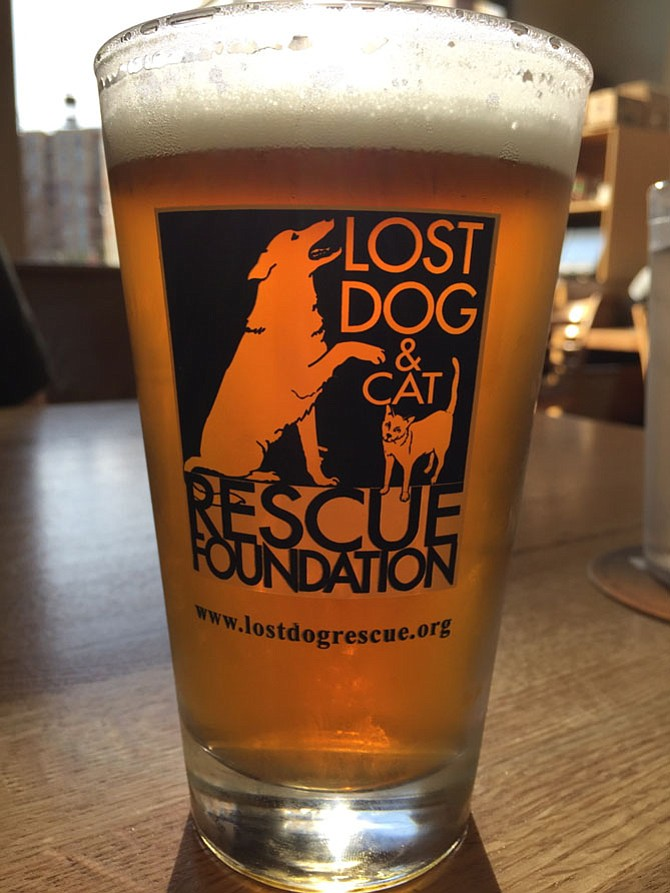 Alpine Brewing's Mandarin Nectar is a sweeter beer that's light enough to enjoy with a pizza or sandwich at Lost Dog Café.