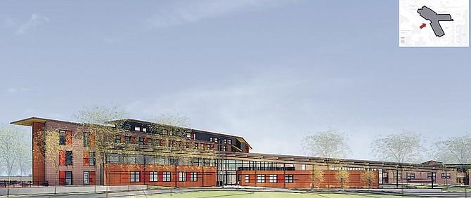 Design for the new Thomas Jefferson Elementary School.