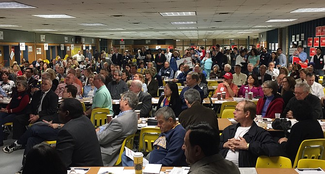 More than 300 voters attended a Fairfax County Republican Committee straw poll and candidate forum on March 25, according to FCRC executive director Eric Johnson. The event was held at Robinson Secondary School.
