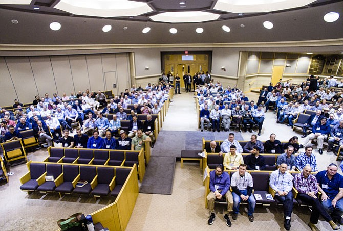 "More than 500 men attended ""Guys Night Out"" and Seder Summit at Beth Shalom Congregation."