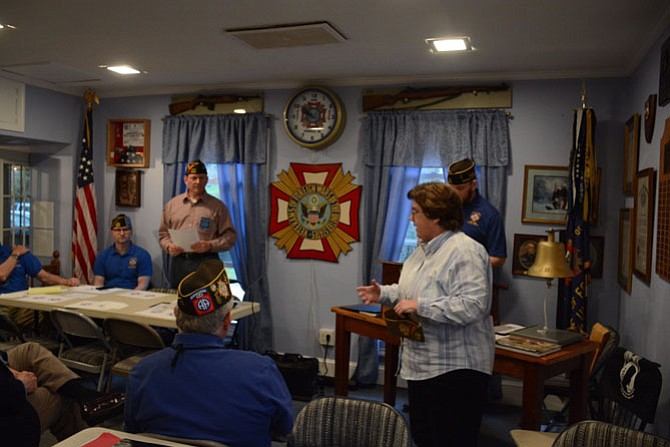 The VFW was impressed by teacher Theresa Early creating a fourth grade color guard to accompany the school's daily pledge of allegiance to the American flag. Early said she also uses old pieces from her grandfather's military uniform to inspire her students.