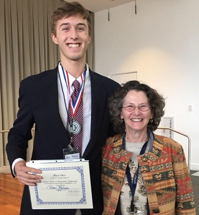 Peter Holmes '17 and Dr. Isabelle Cohen.