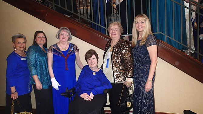 Members of the Kate Waller Barrett Chapter who attended the annual DAR State Conference included, from left, Carol Howerton, Alice Haynicz, Regent Kathy Gray, Susan Floyd, Nancy Foscue and Cindy Dennis. Members not pictured: Phyllis Kelley and Shannon Duckworth.