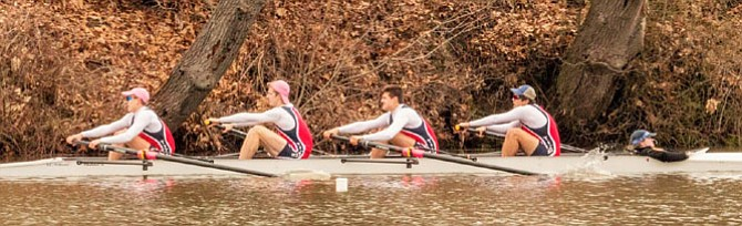 TC Varsity Men's First 4 at Noxontown Regatta.