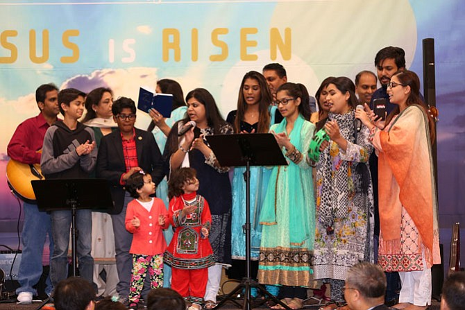 At the 2017 International Easter Banquet in Herndon, more 350 adults and 50 children attended from 48 countries. A group from Reston Bible Church prepared Easter eggs and coordinating the egg hunt, ESOL directors from several locations helped with communications, and individuals from the Open Door Presbyterian Church participated as well.