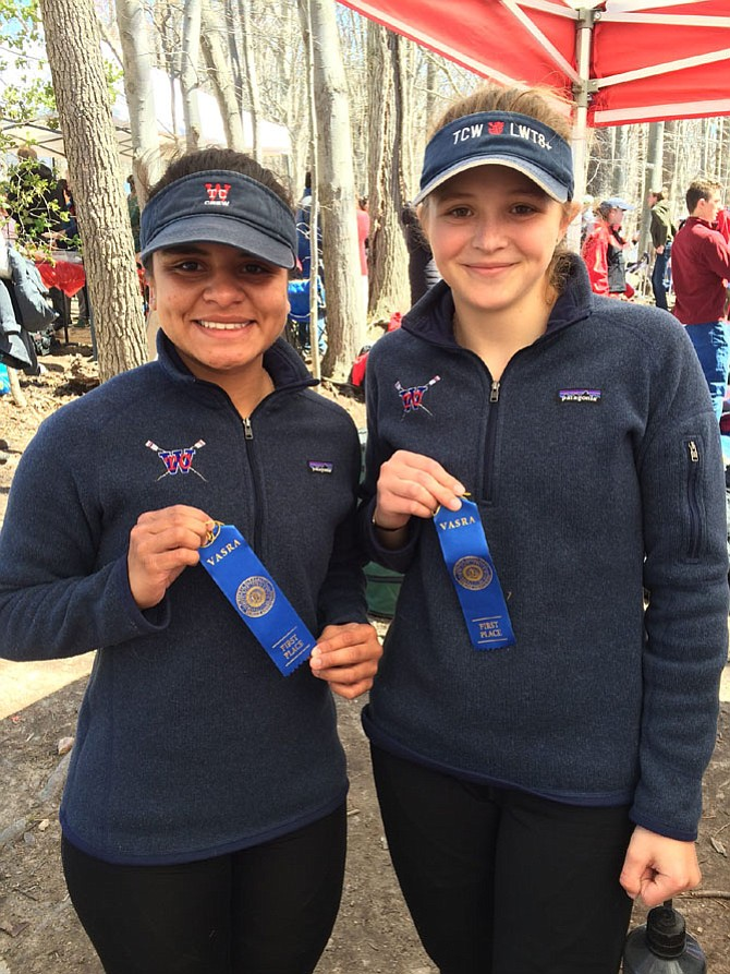 Cecelia Fernandez and Lauren Kelly led the Titan charge in a lightweight double.