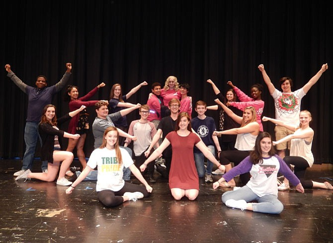 "Cast members after rehearsing the ""What You Want"" dance number in ""Legally Blonde: The Musical."""