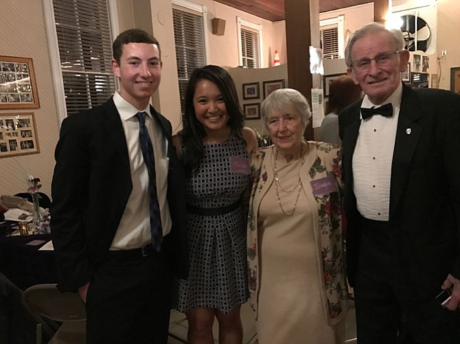 Teenagers Craig Fischer and Andrea Dilao became fast friends with seniors Evelyn Wheeler and Walter Wheeler at Colvin Run Dance Hall's 85th Anniversary Celebration.