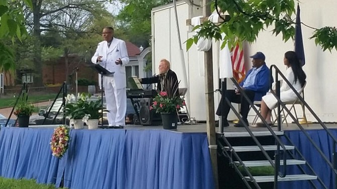 The Rev. Dr. Johnnie L. Abram of Harvest Assembly Baptist Church in Gum Springs officiated the Easter Sunday Sunrise Service.