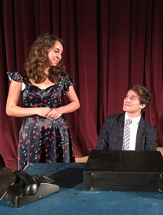 "Caroline Woodson and Evan Belsky play the leads in Chantilly's ""How to Succeed in Business without Really Trying."""