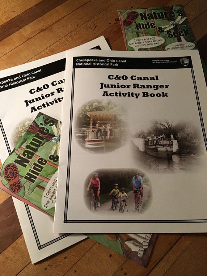 Brochures for the National Park Service Junior Ranger Program.