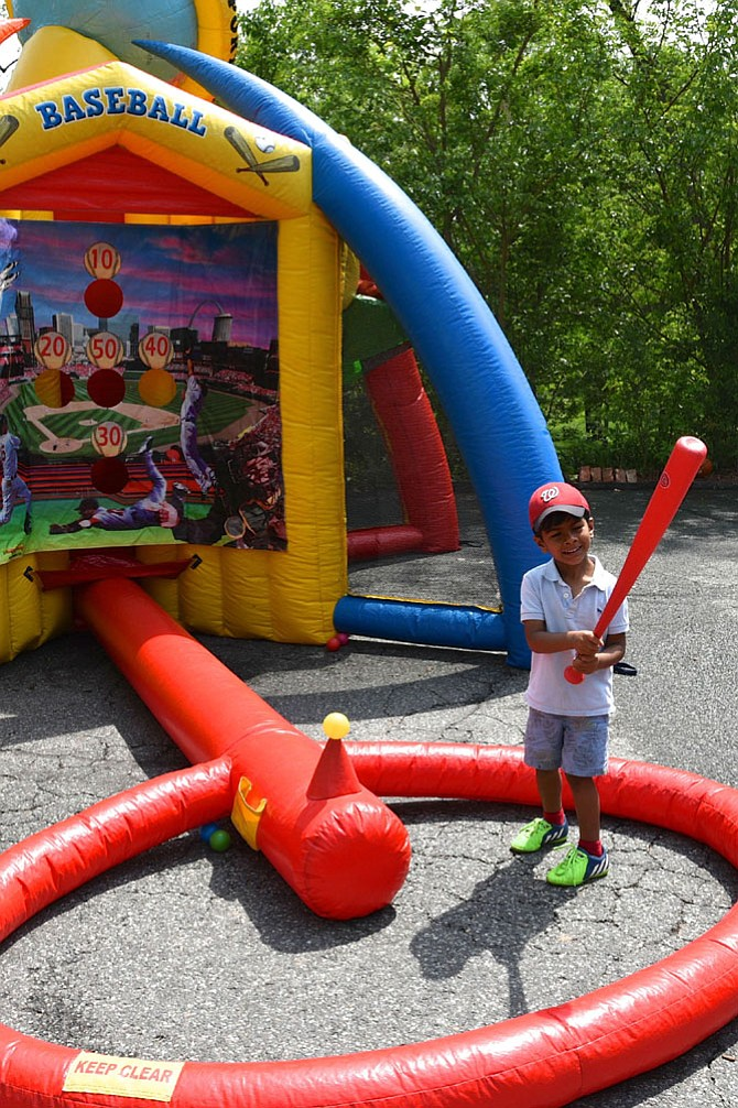 Arvind Shah enjoys the Spring Carnival at Geneva Day School on Saturday, April 29.