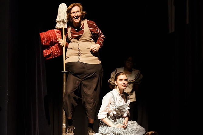 """From left: Nick Dache and Sean Cody in Woodson High production of """"Peter and the Starcatcher."""""""