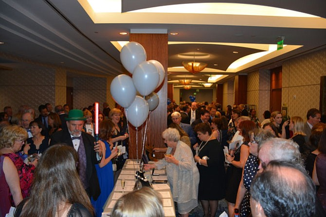 The Good Shepherd Housing gala began with a silent auction and cocktails, before guests proceeded into the ballroom for the dinner program.