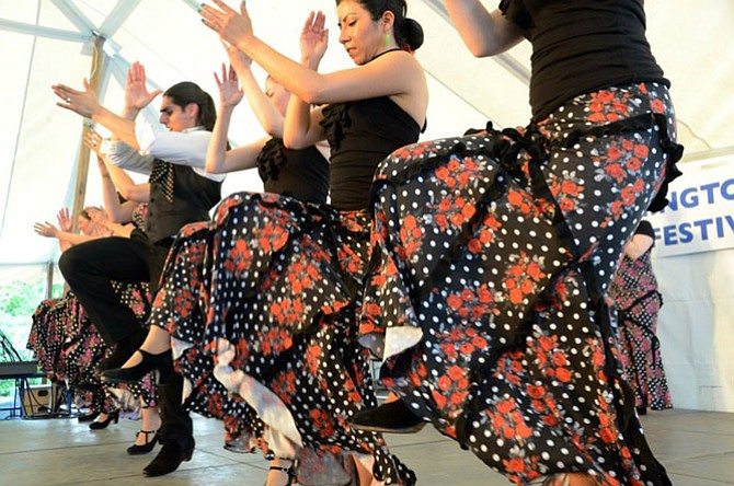 Furia Flamenca dancers will be on the main stage, Saturday at 1:30.