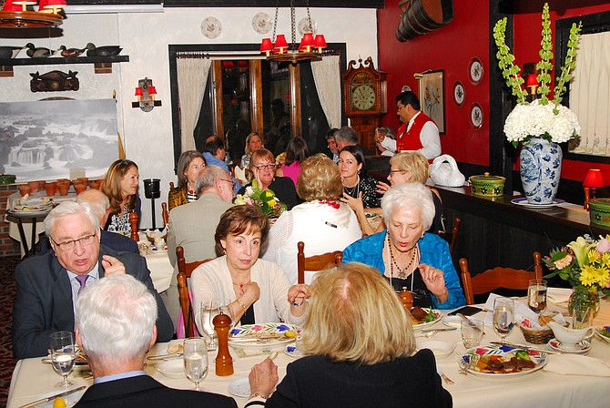 Friends gathered at the Great Falls Historical Society 40th anniversary gala, enjoying fine dining as each recalled their interest in history.