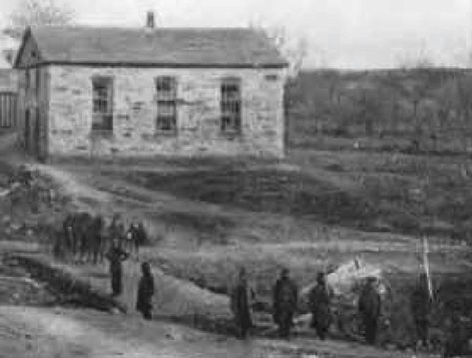 The Old Stone Church circa 1862.