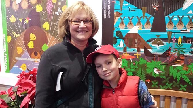 Visiting Botanical Gardens Cheryl (mom) and Corbett Howell of Herndon enjoying the annual train display at the National Botanical Gardens in December 2016.