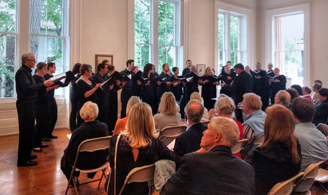 The Choral Arts Society of Washington performed at the Athenaeum on Sunday, May 7.