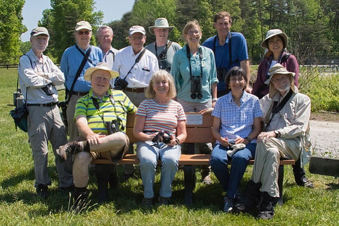 A bench in the Meadowood Special Recreation Area on Mason Neck was dedicated April 28 to Jim Waggener and his group of volunteers.