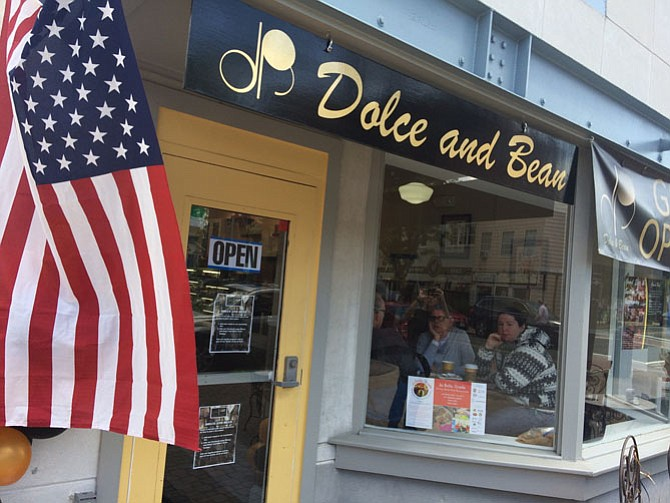 Only open a few weeks, Del Ray's Dolce and Bean is already settling in nicely to the neighborhood.