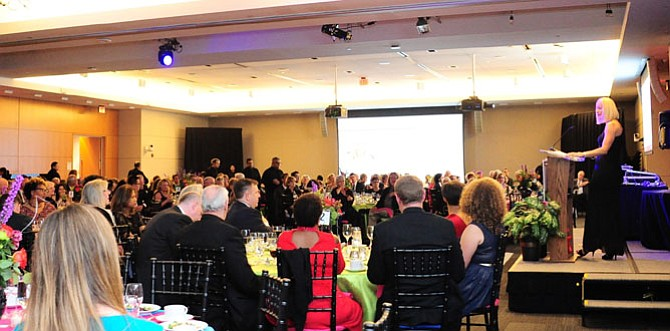 UCM's recently appointed Executive Director Alison DeCourcey  addresses Gala attendees during the event's dinner.