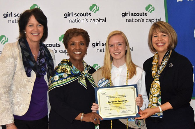 From left are Christine Brennan; Faye Fields, president and CEO, Integrated Resource Technologies and Board Chair, GSNC; Caroline Brunner, and Lidia Soto-Harmon, CEO, GSNC.