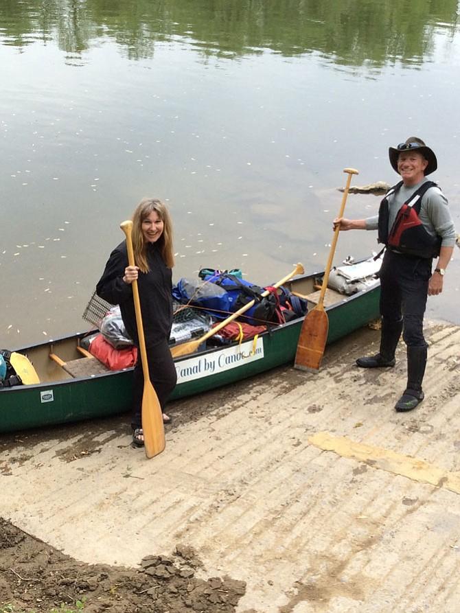 Mary Kearney and Joe Hage at the boat ramp at Nolands Ferry.