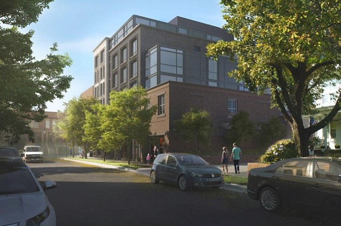 Concept rendering of the new mixed-use development.
