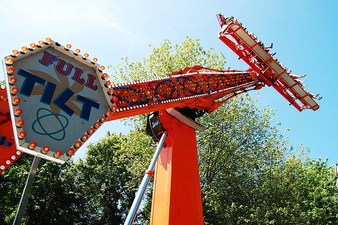 Full Tilt is just one of the popular large amusement rides that can be enjoyed at McLean Day.