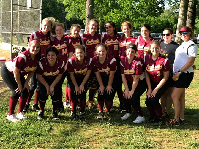 The Bishop Ireton Cardinals after the WCAC quarterfinal win over Elizabeth Seton.