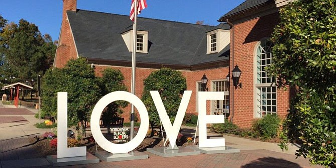 Visitors can come see the LOVE when it arrives on Friday, June 9. It will be on display at Lake Anne Plaza through Wednesday, June 14.